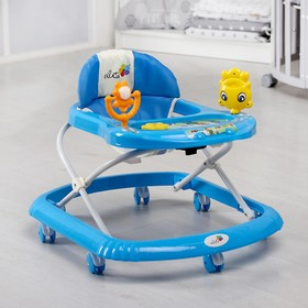Ходунки «Солнышко», 7 колес, муз. игрушки, синий Ош