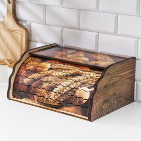 Хлебница деревянная «Ржаное поле», 38,3×28×17,3 см