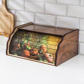 Хлебница деревянная «Поляна», 28×38,5×18 см