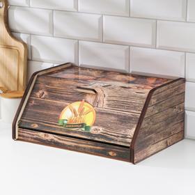 Хлебница деревянная «Колоски», 27×38×17 см