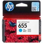 Картридж струйный HP 655 CZ110AE голубой для HP DJ IA 3525/4615/4625/5525/6525 (600стр.)