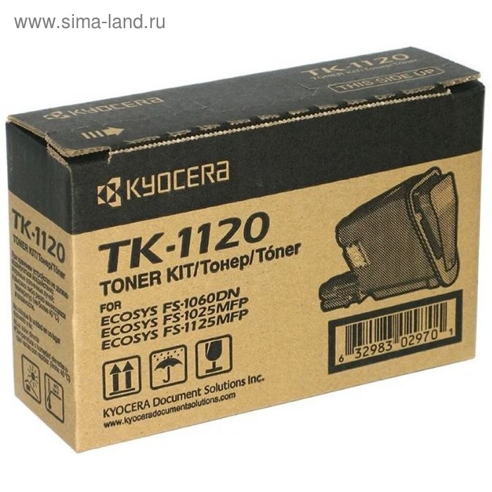 Тонер Картридж Kyocera TK-1120 черный для Kyocera FS-1060DN/1025/1125 (3000стр.)