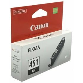 Картридж струйный Canon CLI-451BK 6523B001 черный для Canon Pixma iP7240/MG6340/MG5440