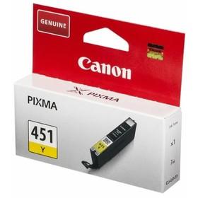 Картридж струйный Canon CLI-451Y 6526B001 желтый для Canon Pixma iP7240/MG6340/MG5440