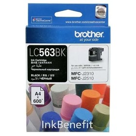 Картридж струйный Brother LC563BK черный для Brother MFC-J2510 (600стр.)