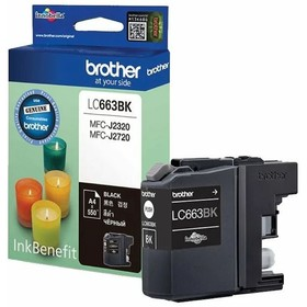 Картридж струйный Brother LC663BK черный для Brother MFC-J2320/J2720 (600стр.)