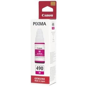 Чернила Canon GI-490M 0665C001 пурпурный для Canon Pixma G1400/2400/3400 (70мл)