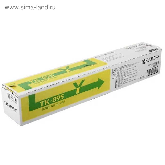Тонер Картридж Kyocera 1T02K0ANL0 TK-895Y желтый для Kyocera FS-C8020/C8025 (6000стр.)