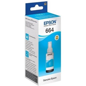 Картридж струйный Epson C13T66424A голубой для Epson L100 (6500стр.)