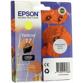 Картридж струйный Epson C13T17044A10 желтый для Epson XP33/203/303 (150стр.)