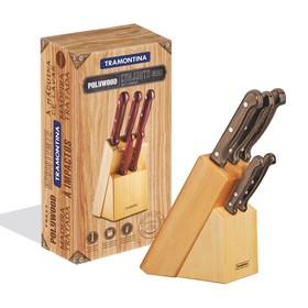 Набор ножей на подставке Polywood 5 предметов