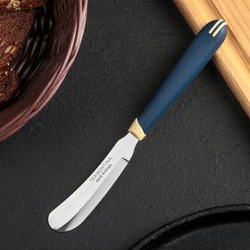 Нож кухонный Tramontina для масла, лезвие 7,5 см, сталь AISI 420, цвет синий