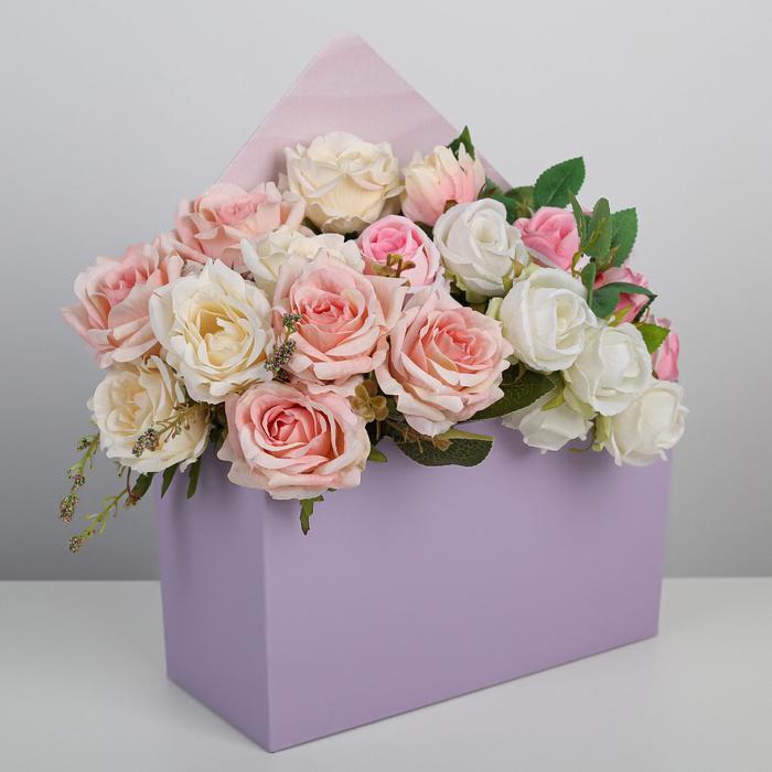 Коробка-письмо «Лавандовое настроение», 25 × 33 × 10 см