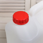 Канистра пищевая, 10 л, диаметр горловины 45 мм, белая - Фото 4