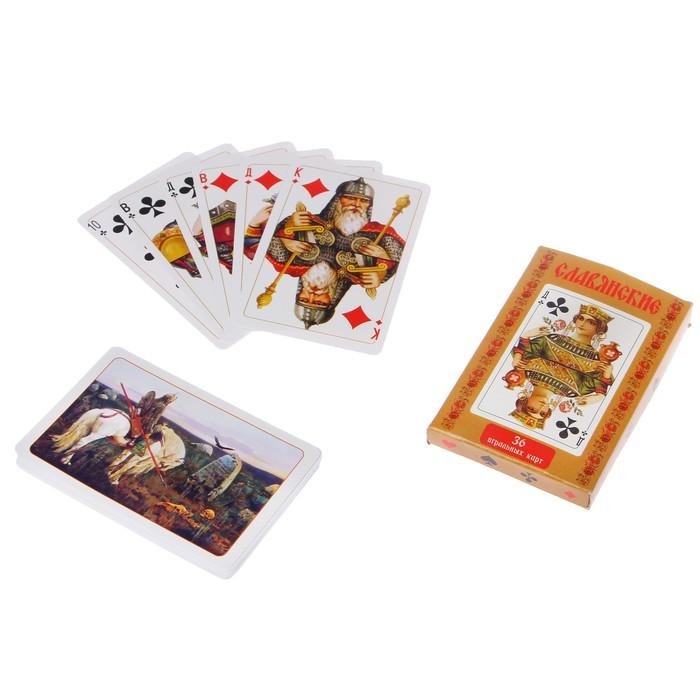 Карты игральные Славянские, 36 карт