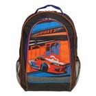 Рюкзак школьный Luris «Алекс», 39 x 24 x 19 см, эргономичная спинка, «Оранжевое авто»