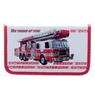 Пенал 1 секция «Пожарная машина», 115 х 205 мм, 3D объёмный рисунок
