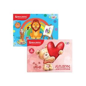 Альбом для рисования A4, 8 листов на скрепке BRAUBERG «Любимые игрушки», 100 г/м2 Ош
