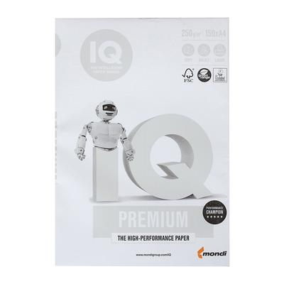 Бумага А4 150 л, IQ Premium, 250 г/м2, белизна 169% CIE, класс А+