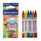 Восковые карандаши 6 цветов, «ПИФАГОР»