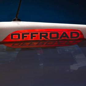 Наклейка на стоп сигнал на заднее стекло OFFROAD Ош