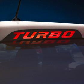 Наклейка на стоп сигнал на заднее стекло TURBO Ош
