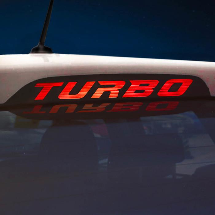 Наклейка на стоп сигнал на заднее стекло TURBO