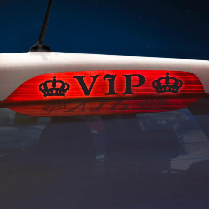 Наклейка на стоп сигнал на заднее стекло VIP