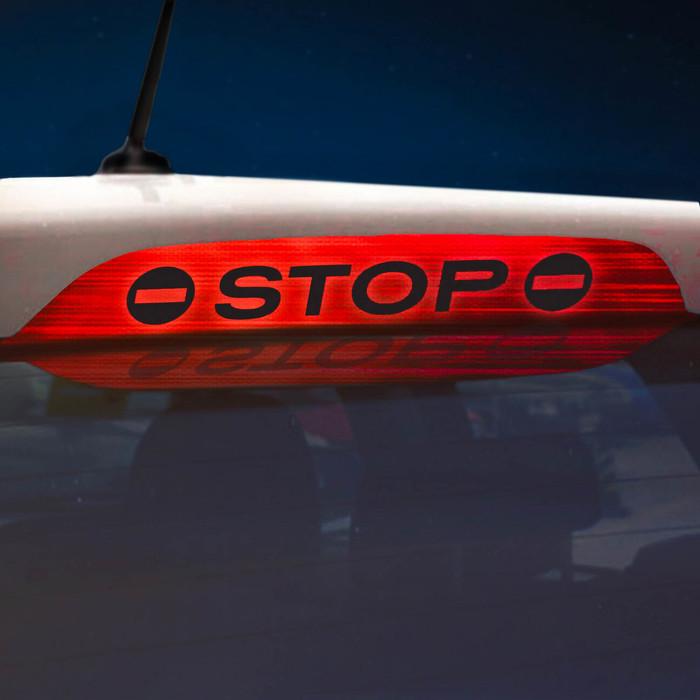 Наклейка на стоп сигнал на заднее стекло STOP
