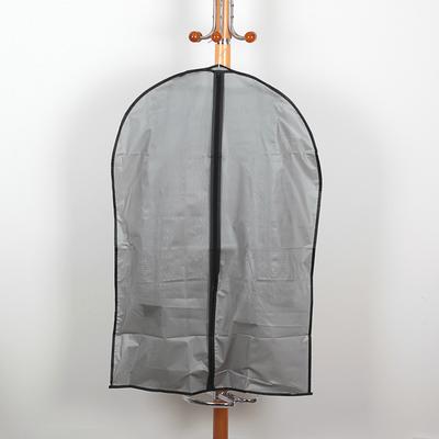 Чехол для одежды плотный Доляна, 59×89 см, PEVA, цвет серый - Фото 1