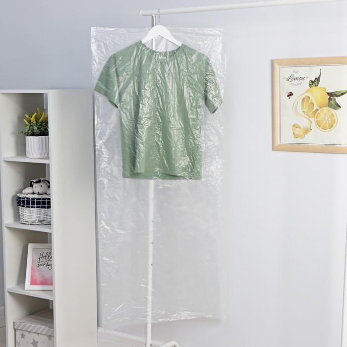 Набор чехлов для одежды 13760 см, 2 шт, полиэтилен, прозрачный