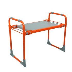 Скамейка-перевёртыш садовая складная 56х30х42,5 см, оранжевая, максимальная нагрузка 100 кг Ош