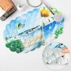 Коврик для ванны «Ракушки пляж», 38×68 см