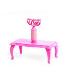 Журнальный столик с цветами для куклы «Зефир»
