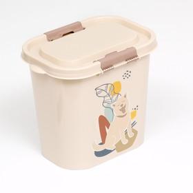 Контейнер Dogs для корма, овальный, 10 л, микс цветов Ош