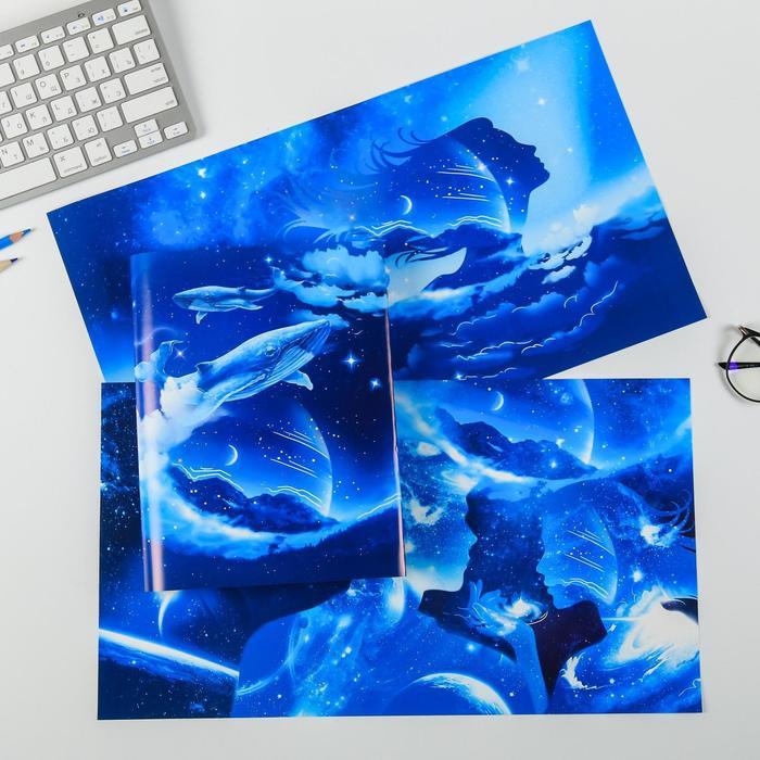 Набор обложек для книг «Космос», 3 шт, 43 × 24 см