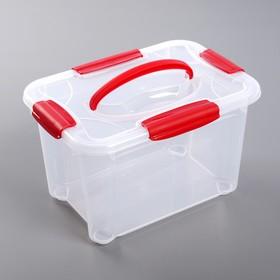 Ящик для хранения с крышкой «Кристалл», 5,5 л, 28×19×17 см