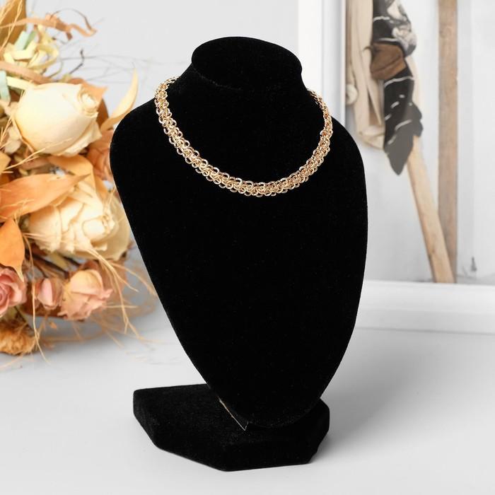 Бюст для украшений, 10*12*15 см, h=15 см, цвет чёрный