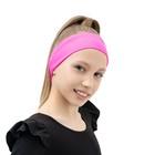 Повязка на голову, бифлекс, цвет розовый