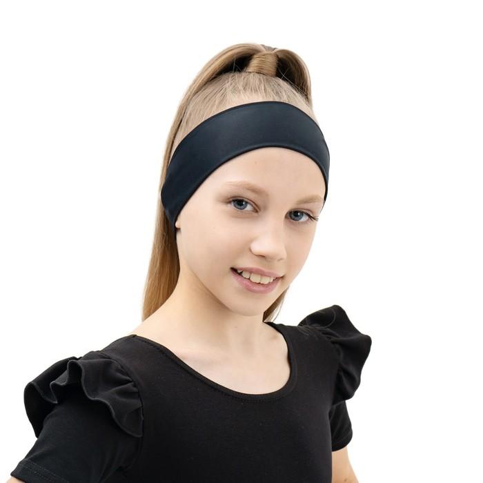 Повязка на голову, бифлекс, цвет черный