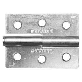 Петля дверная STAYER MASTER, 65 мм, разъемная, левая, цвет белый цинк