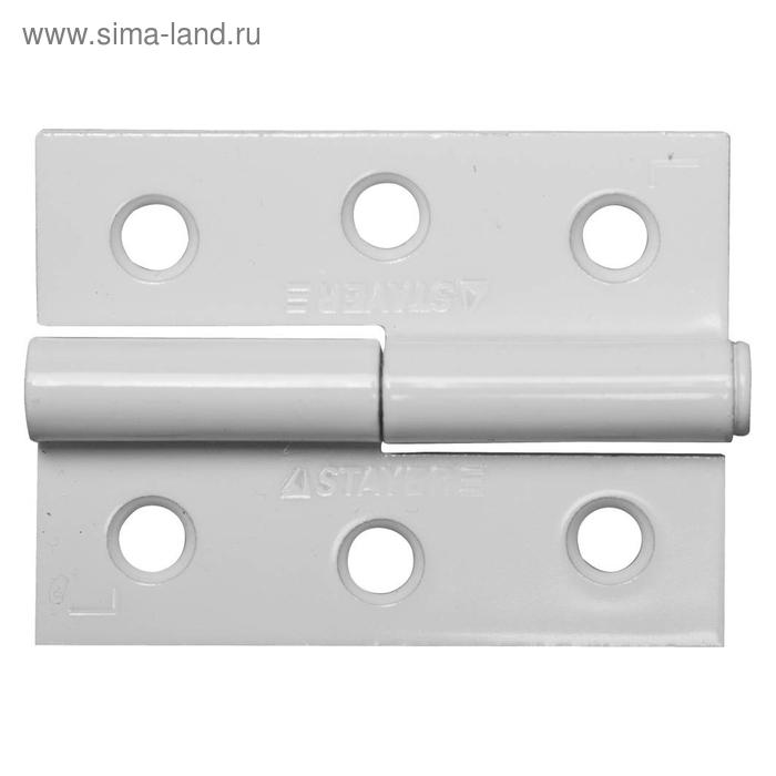 Петля дверная STAYER MASTER, 65 мм, разъемная, левая, белая