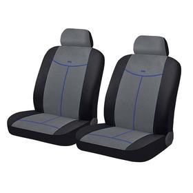 Авточехлы ALCANTARA FRONT, на передние кресла, серый, черный, синий, трикотаж Ош