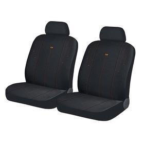 Авточехлы DIRECT FRONT, на передние кресла, черно-оранжевый, трикотаж Ош