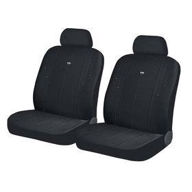 Авточехлы DIRECT FRONT, на передние кресла, черно-серый, трикотаж Ош