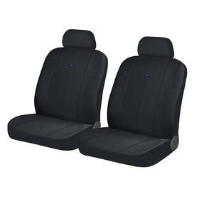 Авточехлы DIRECT FRONT, на передние кресла, черно-синий, трикотаж Ош