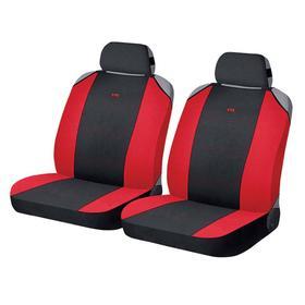 Накидки, на переднее сиденье, CROSS FRONT, красно-черный, трикотаж