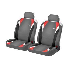 Накидки, на переднее сиденье, FORMULA FRONT, серо-красный, трикотаж
