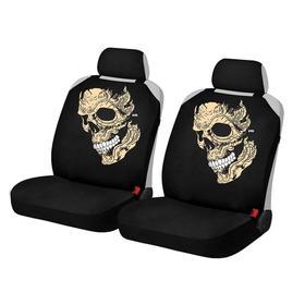 """Накидки, на переднее сиденье, SKULL FRONT, бежевый, ткань """"ЭЛАСТИК"""""""