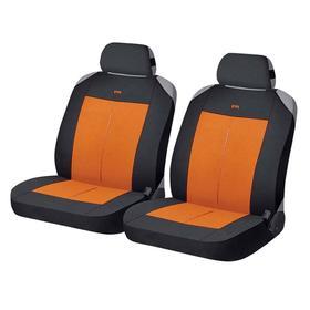Накидки, на переднее сиденье, VERTICAL FRONT, оранжево-черный, трикотаж